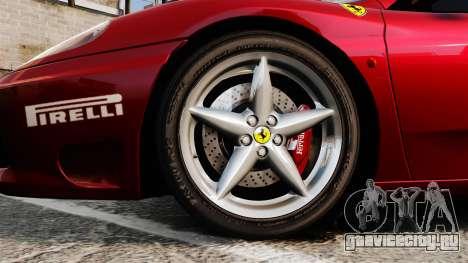 Ferrari 360 Spider 2000 [EPM] для GTA 4 вид сзади