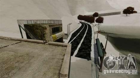 Снежная локация Sakina для GTA 4 второй скриншот