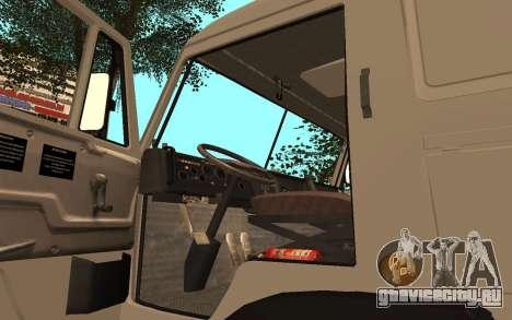 КамАЗ 53115 Цементовоз для GTA San Andreas вид сзади