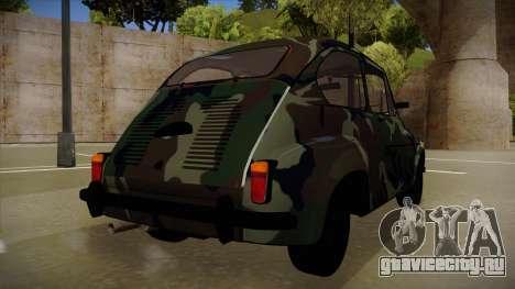 Zastava 750 Camo для GTA San Andreas вид сзади