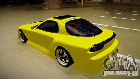 Mazda FD3S BN Sports для GTA San Andreas вид сзади
