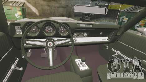 Oldsmobile Cutlass Hurst 442 1969 v1 для GTA 4 вид изнутри