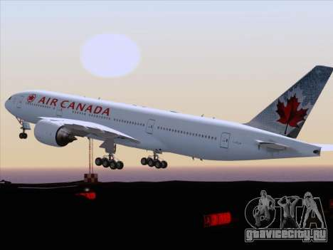 Boeing 777-200ER Air Canada для GTA San Andreas вид сбоку