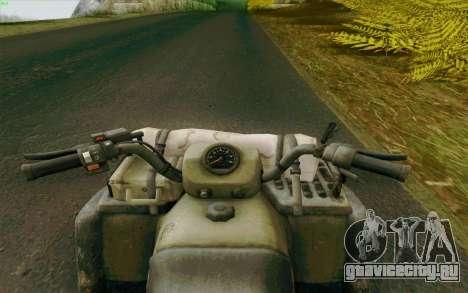 ATV из Medal of Honor для GTA San Andreas вид сзади слева
