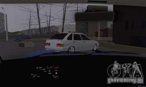 ВАЗ 2108 Разбитая для GTA San Andreas вид изнутри