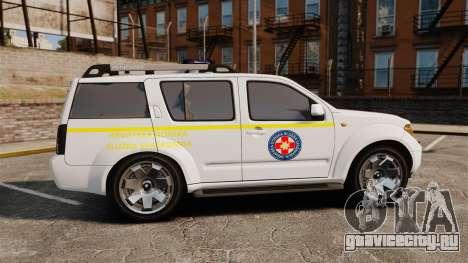 Nissan Pathfinder HGSS [ELS] для GTA 4 вид слева