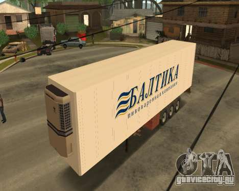 Рефрижератор Балтика для GTA San Andreas вид слева