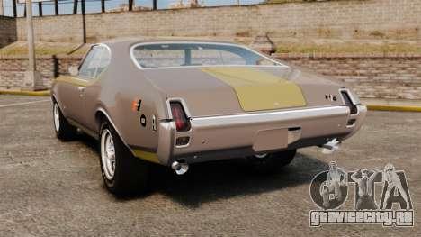 Oldsmobile Cutlass Hurst 442 1969 v1 для GTA 4 вид сзади слева