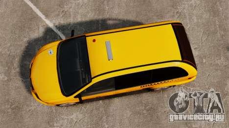 Dodge Grand Caravan 2005 Taxi NYC для GTA 4 вид справа