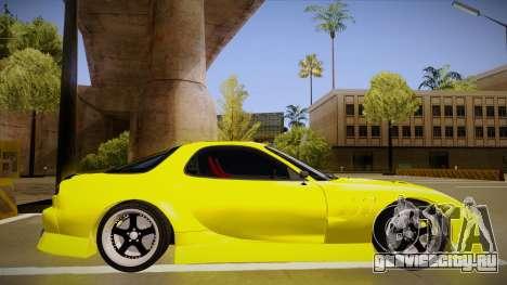 Mazda FD3S BN Sports для GTA San Andreas вид сзади слева