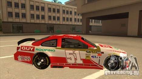 Chevrolet SS NASCAR No. 51 Guy Roofing для GTA San Andreas вид сзади слева