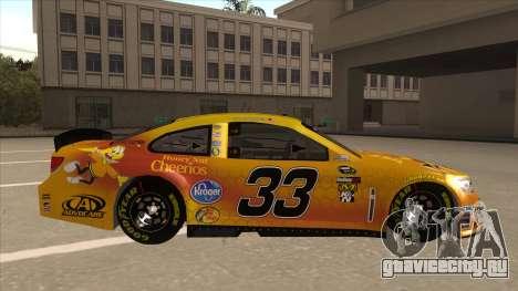 Chevrolet SS NASCAR No. 33 Cheerios для GTA San Andreas вид сзади слева