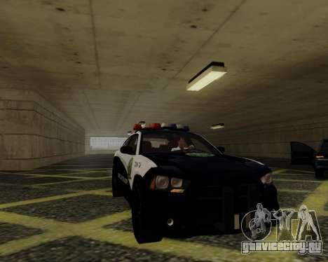 Dodge Charger 2012 Police IVF для GTA San Andreas вид изнутри