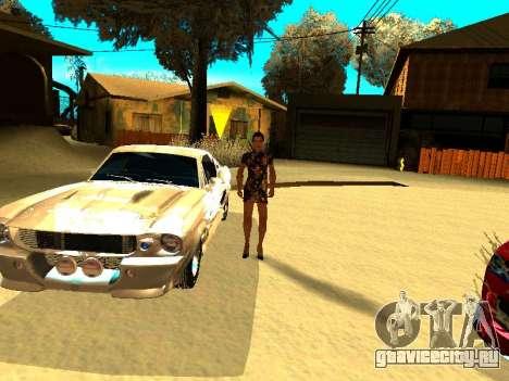 Ford Shelby GT-500E Eleanor для GTA San Andreas двигатель