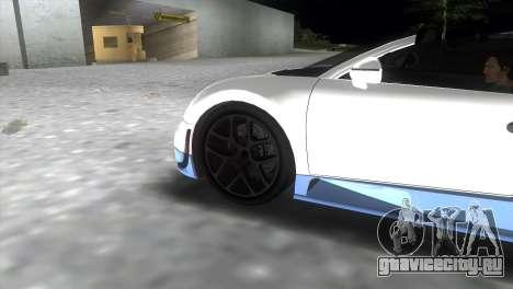 Bugatti Veyron Grand Sport Vitesse для GTA Vice City вид сзади слева