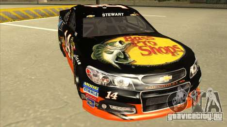 Chevrolet SS NASCAR No. 14 Mobil 1 Bass Pro Shop для GTA San Andreas вид слева