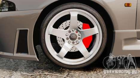 Nissan Skyline R33 NISMO 400R для GTA 4 вид сзади