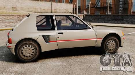 Peugeot 205 Turbo 16 для GTA 4 вид слева