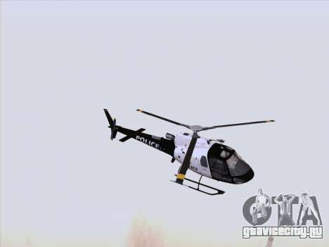 Police Maverick GTA 5 для GTA San Andreas вид слева