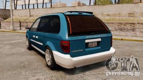 Dodge Grand Caravan 2005 для GTA 4 вид сзади слева