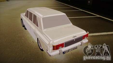 Paykan Limousine для GTA San Andreas вид сзади