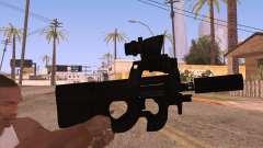 P90 ACOG с фонариком