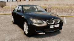 BMW M5 E60 Metropolitan Police Unmarked [ELS] для GTA 4
