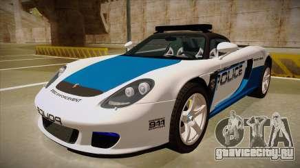 Porsche Carrera GT 2004 Police White для GTA San Andreas