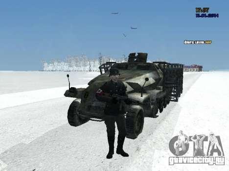 SdKfz 251 для GTA San Andreas вид сзади