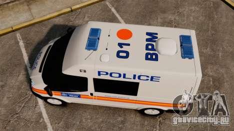 Ford Transit 2013 Police [ELS] для GTA 4 вид справа
