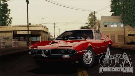 Alfa Romeo Montreal (105) 1970 для GTA San Andreas вид сзади слева