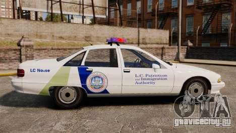 Chevrolet Caprice Police 1991 v2.0 N.o.o.s.e для GTA 4 вид слева