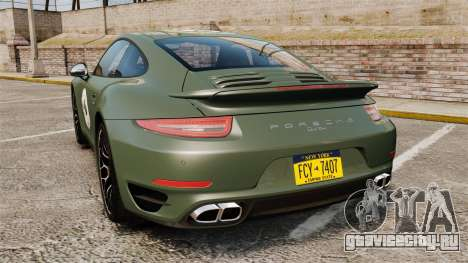 Porsche 911 Turbo 2014 [EPM] Ghosts для GTA 4 вид сзади слева