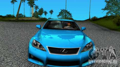 Lexus IS-F для GTA Vice City вид слева