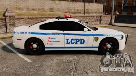 Dodge Charger 2012 LCPD [ELS] для GTA 4 вид слева