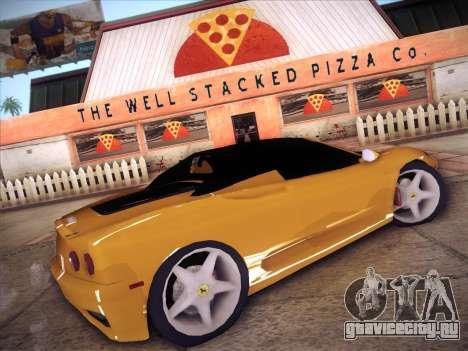 Ferrari 360 Spider для GTA San Andreas вид слева