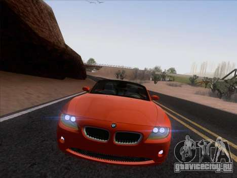 BMW Z4 Edit для GTA San Andreas вид сзади