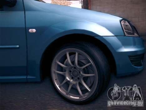Dacia Logan GrayEdit для GTA San Andreas вид справа