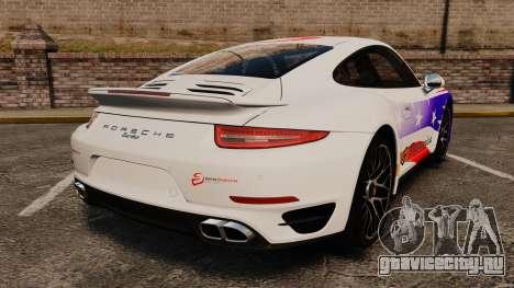 Porsche 911 Turbo 2014 [EPM] America для GTA 4 вид сзади слева