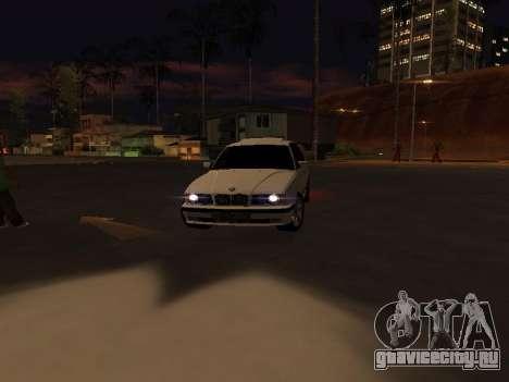 BMW 525 E34 для GTA San Andreas вид изнутри
