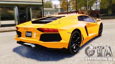 Lamborghini Aventador LP700-4 [EPM] 2012 для GTA 4 вид сверху