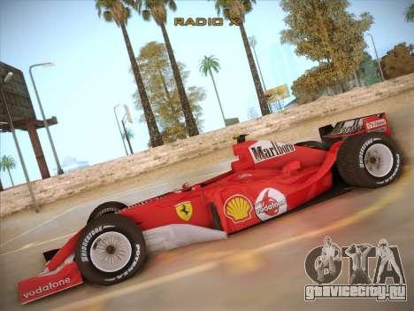 Ferrari F1 2005 для GTA San Andreas вид слева