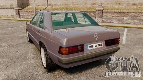 Mercedes-Benz E190 W201 для GTA 4 вид сзади слева