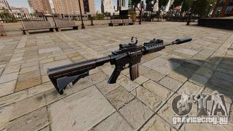Автоматический карабин M4A1 SOPMOD для GTA 4 второй скриншот