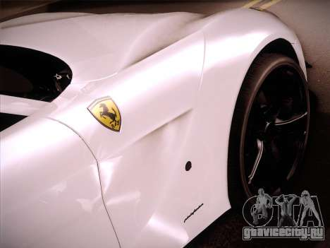 Ferrari F12 Berlinetta для GTA San Andreas вид сзади слева