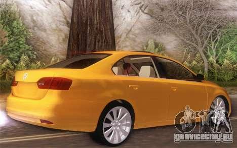 Volkswagen Vento 2012 для GTA San Andreas вид сзади слева