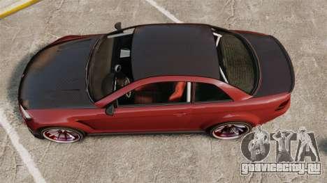 GTA V Sentinel XS Street Tuned Edit для GTA 4 вид справа