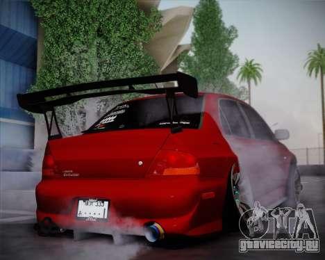 Mitsubishi Evolution VIII для GTA San Andreas вид справа