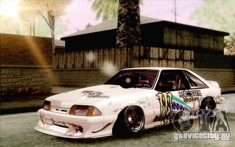 Ford Mustang SVT Cobra 1993 Drift для GTA San Andreas