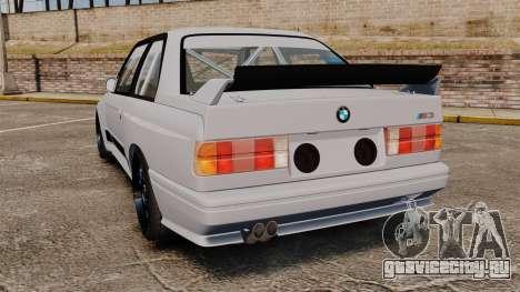 BMW M3 1990 Race version для GTA 4 вид сзади слева